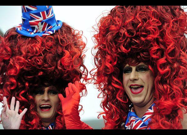 More fans dress up for the celebration. (AFP photo)