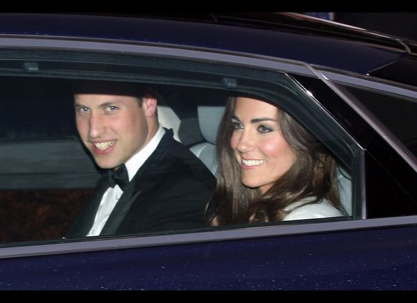 Prince William and Kate leave Clarence House for Buckingham Palace.   (Getty photo)