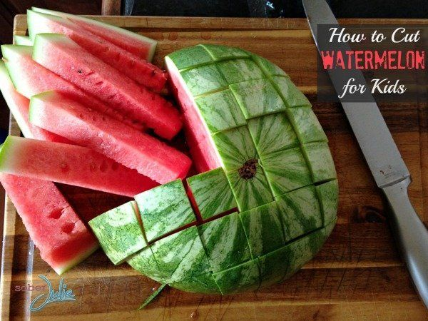 How to cut a watermelon so that it becomes a highlight on your table 22