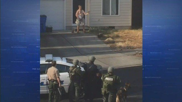 Andrew Helmsworth was arrested following a two-hour standoff with police on Sunday.