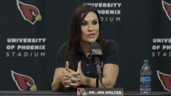 Jen Welter talks about what she hopes her new position teaches young women.