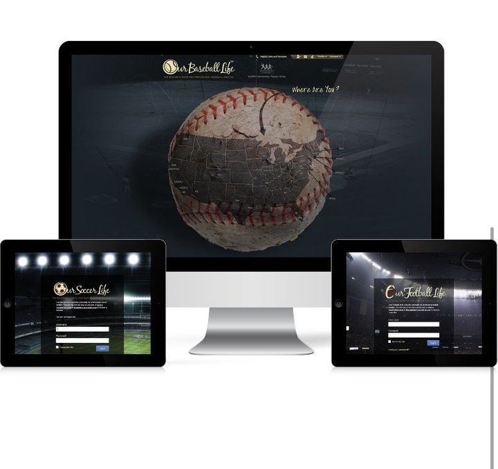 An inside look at the landing page for athletes when they log into OurBaseballLife.