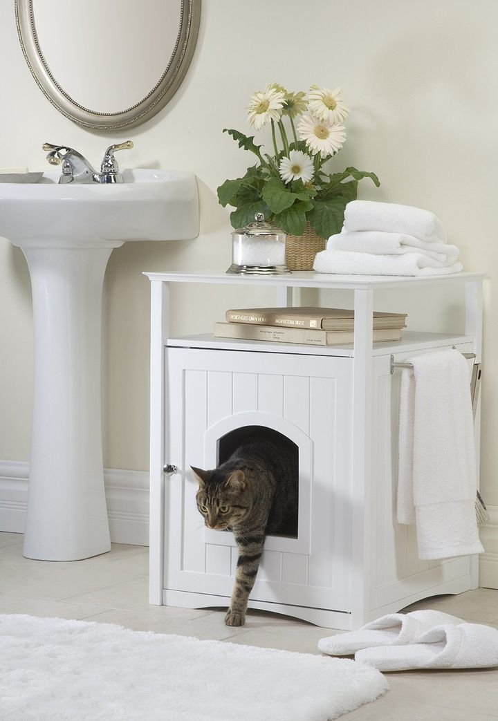 8 Handsome Ways To Hide Your Cats Litter Box  HuffPost
