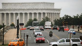 WASHINGTON, DC - JUNE 05:  Traffic moves over the Memorial Bridge near the Lincoln Memorial June 5, 2015 in Washington, DC. The bridge is one of 61,000 bridges across America that the Department of Transportation said were structurally deficient and in need of repair. Parts of the 80 year old bridge's steel support beams are rapidly corroding and no longer meets federal load bearing standards.  (Photo by Mark Wilson/Getty Images)