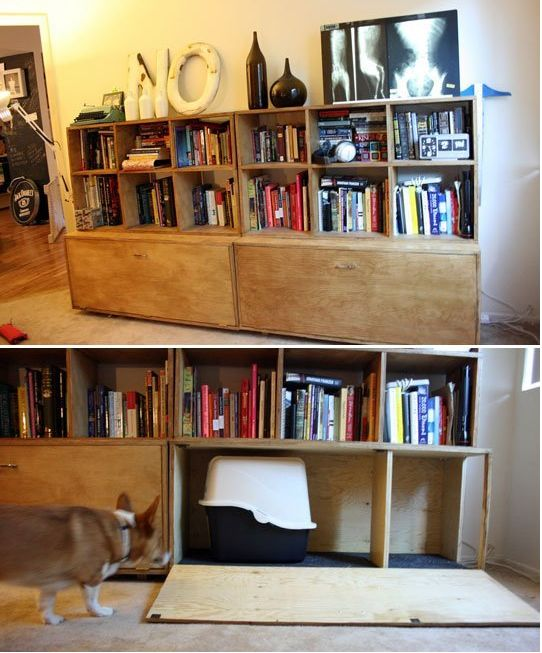 8 Handsome Ways To Hide Your Cat\'s Litter Box | HuffPost Life