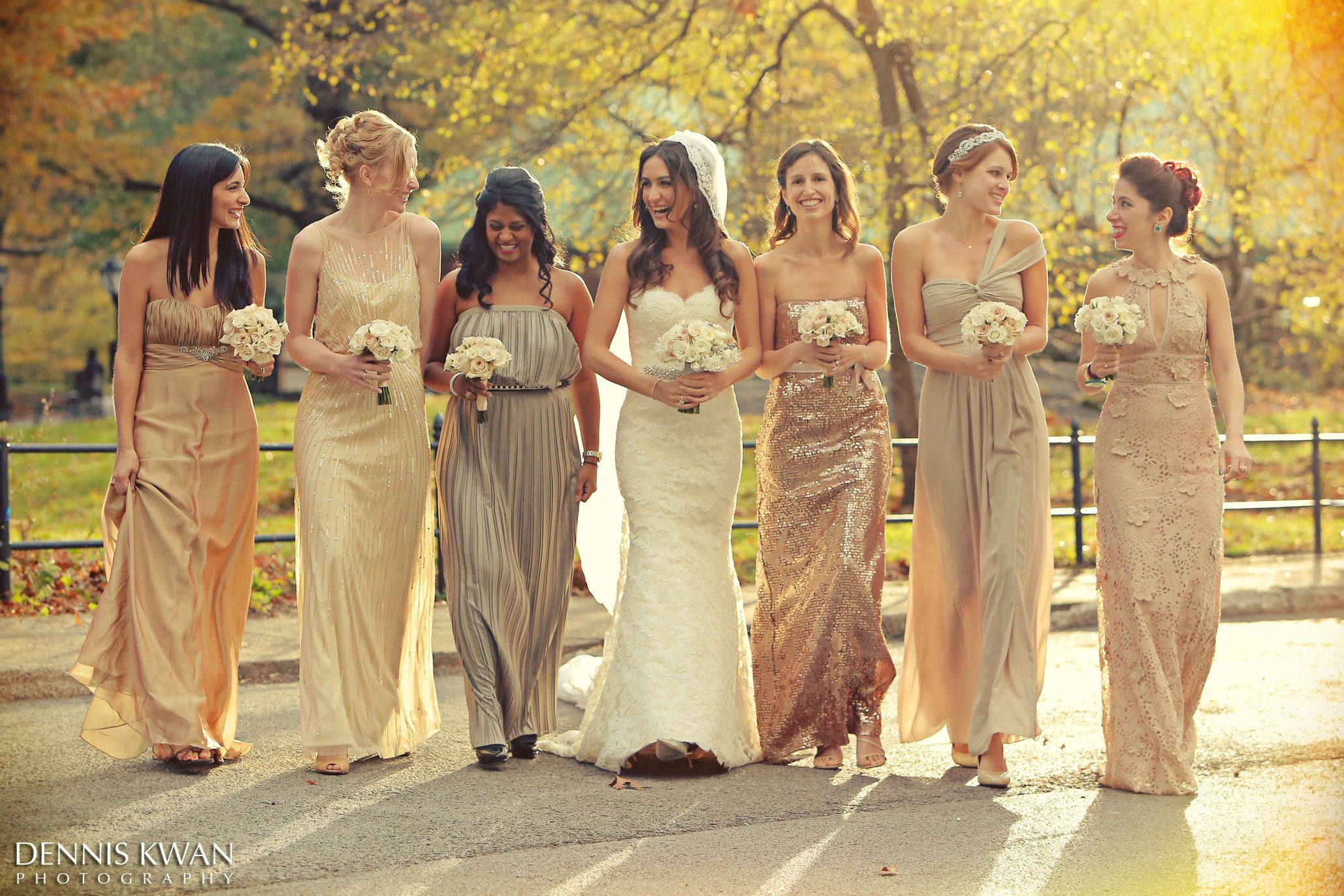 20 Bridal Parties Who Flawlessly Executed The Mismatched Dress ...