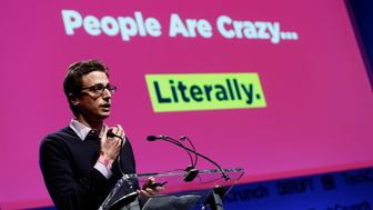 NEW YORK, NY - APRIL 29:  Jonah Peretti of Buzzfeed speaks onstage at the TechCrunch Disrupt NY 2013 at The Manhattan Center on April 29, 2013 in New York City.  (Photo by Brian Ach/Getty Images  for TechCrunch)