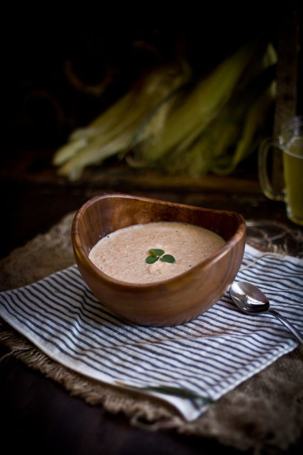 "<strong>Get the <a href=""http://www.adventures-in-cooking.com/2012/09/corn-smoked-salmon-bisque.html"" target=""_blank"">Corn &"