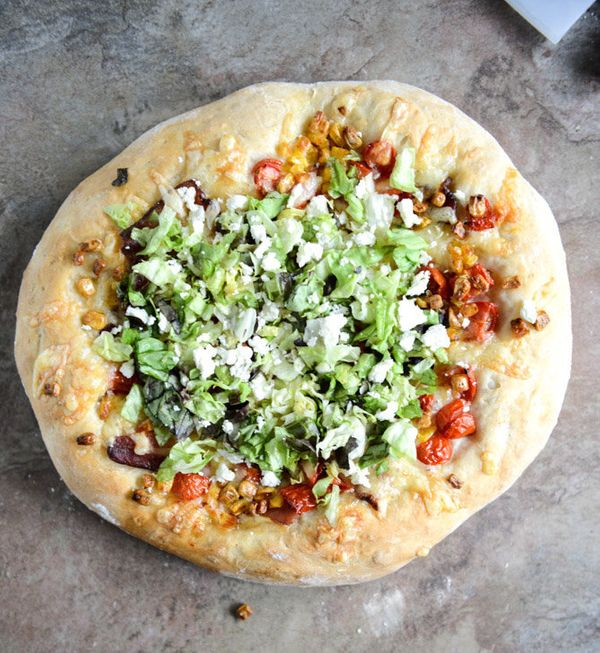 "<strong>Get the <a href=""http://www.howsweeteats.com/2013/07/blt-pizza-with-grilled-corn-crumbled-feta/"" target=""_blank"">BLT"