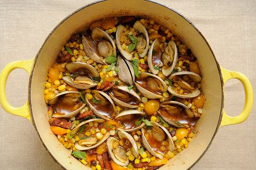 "<strong>Get the <a href=""http://food52.com/recipes/6470-corn-bacon-and-clam-stew"" target=""_blank"">Corn, Bacon, and Clam Stew"