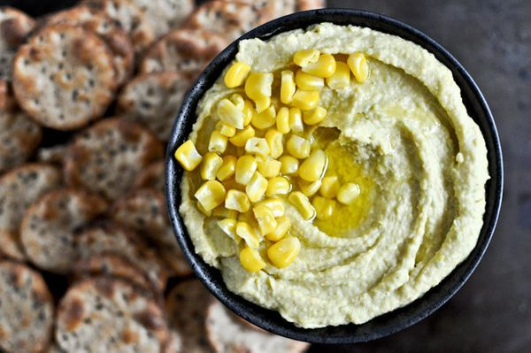 "<strong>Get the <a href=""http://www.howsweeteats.com/2012/05/sweet-corn-roasted-jalapeno-hummus/"" target=""_blank"">Sweet Corn"