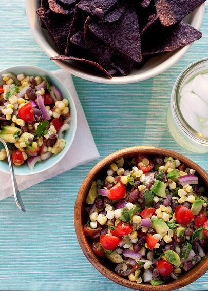 "<strong>Get the <a href=""http://www.annies-eats.com/2013/07/01/black-bean-corn-and-avocado-salad/"" target=""_blank"">Black Bean"