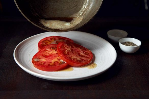 "<strong>Get the <a href=""http://food52.com/recipes/18779-brown-butter-tomatoes"" target=""_blank"">Brown Butter Tomatoes recipe<"