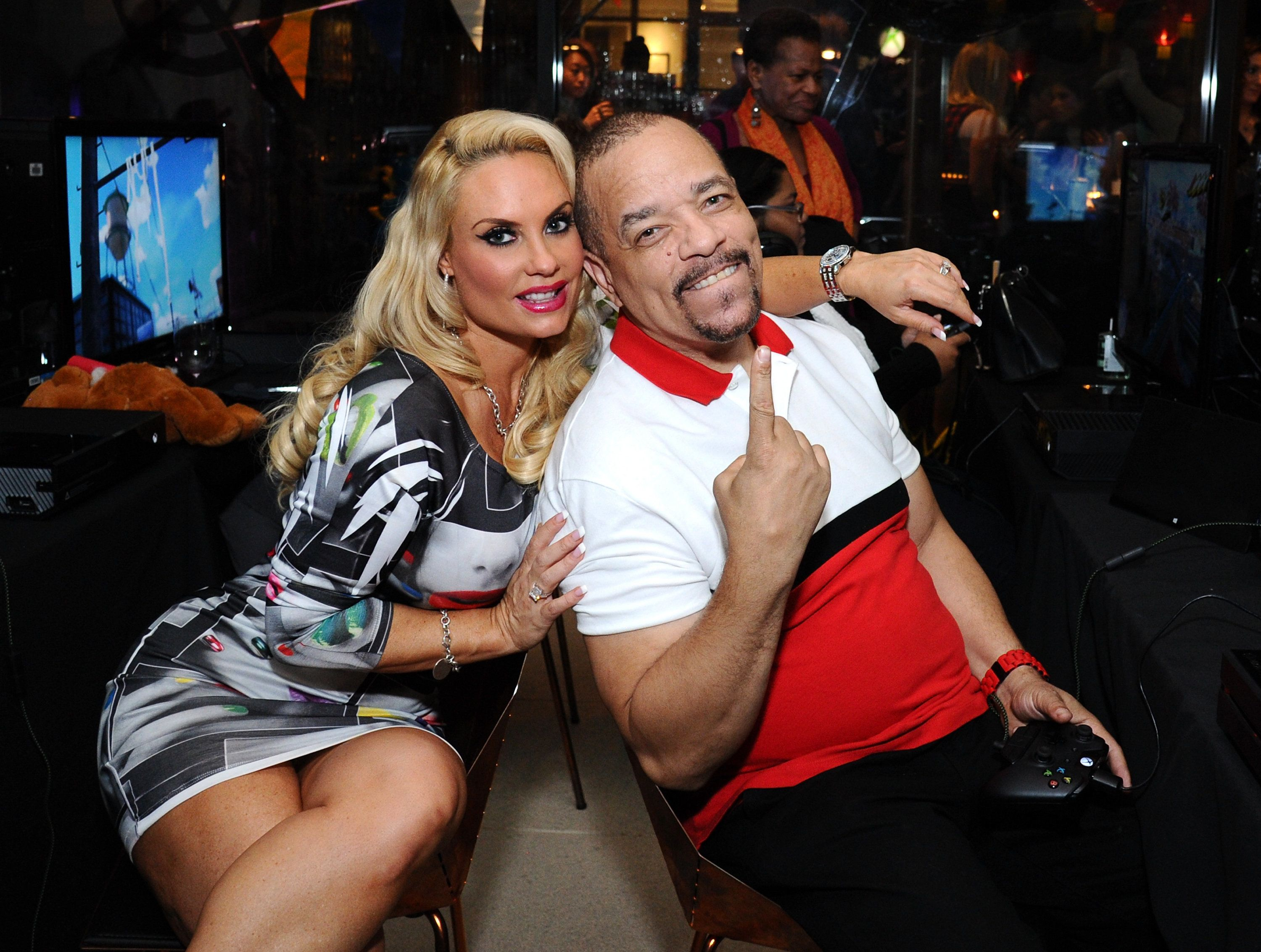 NEW YORK, NY - OCTOBER 27:  Ice-T and Coco celebrate the launch of Sunset Overdrive at the XboxOne Loft on October 27, 2014 in New York City.  (Photo by Ilya S. Savenok/Getty Images for Microsoft)