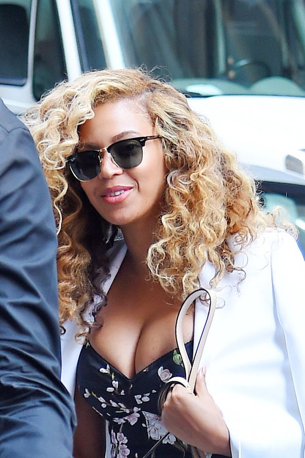 They don't call her Baddie Bey for nothing! The entertainer was spotted in NYC wearing voluminous waves and barely-there make