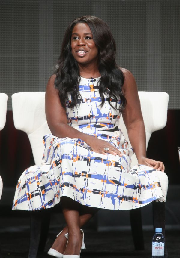 """<strong>Uzo Aduba in L.K. Bennett: </strong> More blue and orange (our <a href=""""http://www.huffingtonpost.com/2015/03/27/best"""