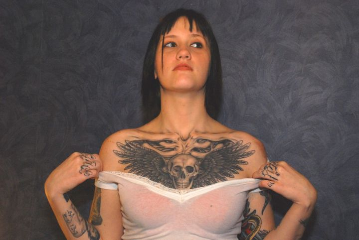 <span>Kristen Wall, a tattoo collector from Texas</span>