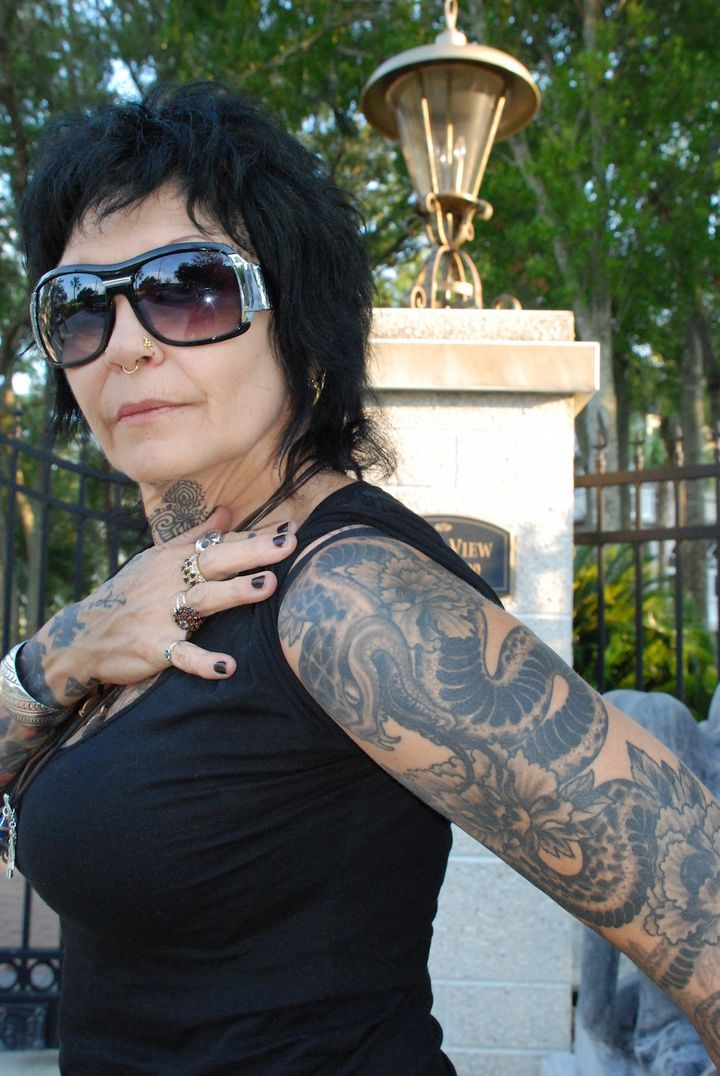 <span>Sofia Estrella, tattoo artist who owns a shop in St. Augustine,</span><span>Florida and also resides in Ecuador,