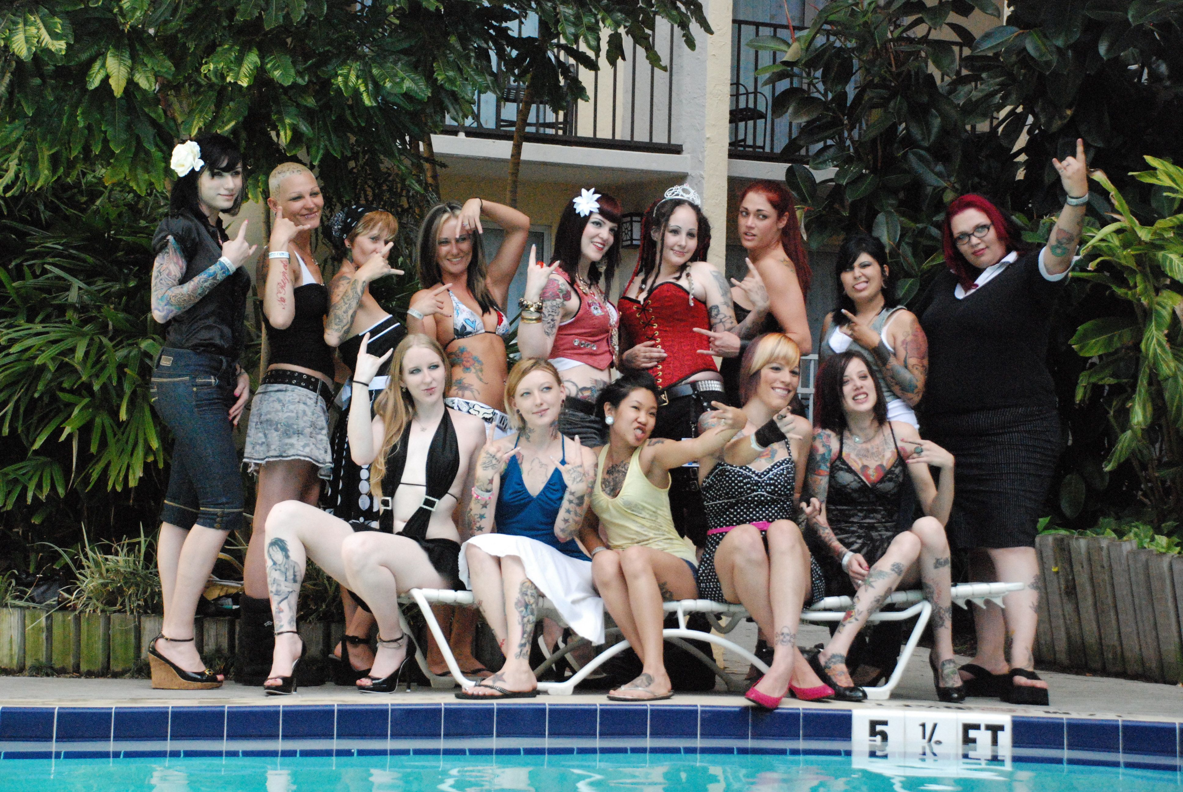 <span>Tampa Tattoo Fest 2007, where a tattooed woman beauty pageant was held</span>