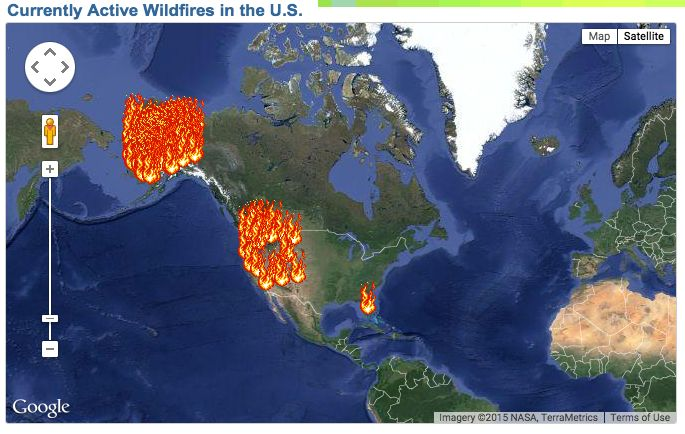 Us Wildfire Activity Map - Us wildfire map