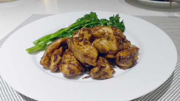 It's hard to go wrong with a chicken dish built with garlic, olive oil, shallots, rosemary, sage, red wine and balsamic vineg