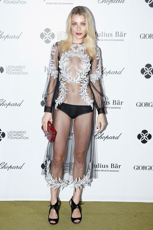 """<span style=""""color: #666666;""""><span><span style=""""color: #555555;"""">The model upsher sheer game at a cocktail reception d"""