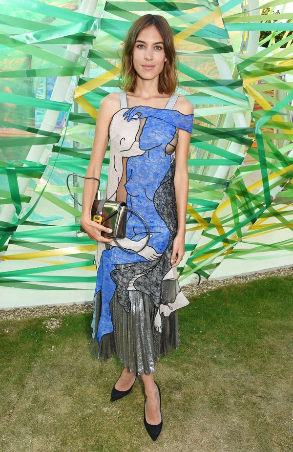 """<span style=""""color: #666666;""""><span style=""""color: #555555;"""">The model wearsart atthe Serpentine Gallery summer pa"""