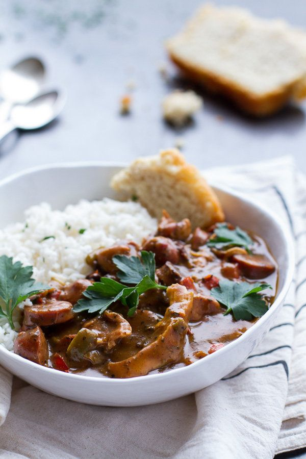"<strong>Get the <a href=""http://www.halfbakedharvest.com/mrs-mooneys-secret-gumbo/"">Mrs. Mooney's Gumbo recipe</a> from"