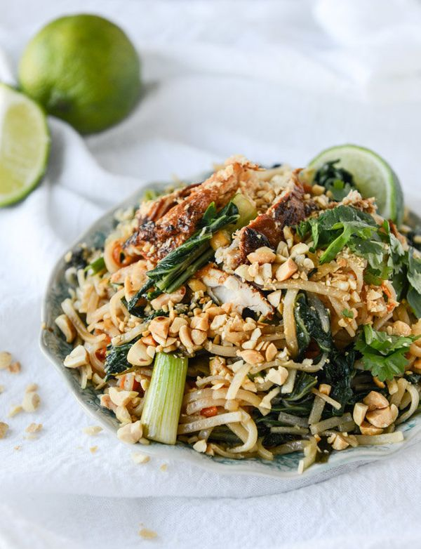 "<strong>Get the <a href=""http://www.howsweeteats.com/2015/04/thai-chicken-street-noodles/"">Thai Chicken Street Noodles recipe"