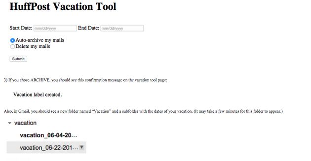 HuffPost's New Tool Will Automatically Delete Emails For Vacationing