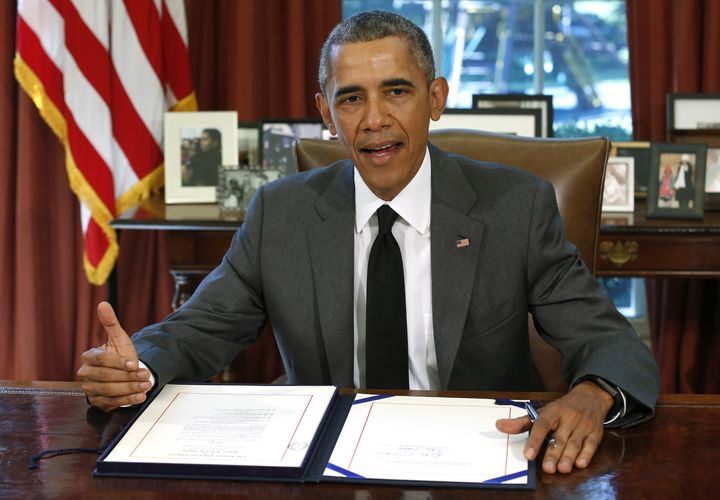 President Barack Obama signed a three-month extension of the surface transportation bill on Friday.
