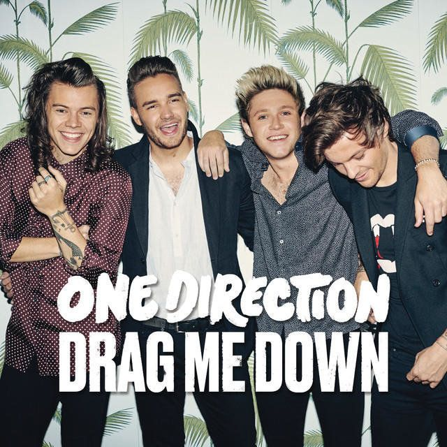 """Cover Art for One Direction's newest single, """"Drag Me Down"""""""