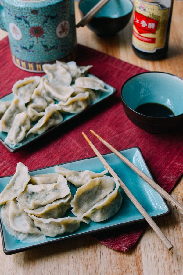"<strong>Get the <a href=""http://thewoksoflife.com/2014/12/pork-chive-dumplings/"">Pork Chive Dumplings recipe</a> from Th"