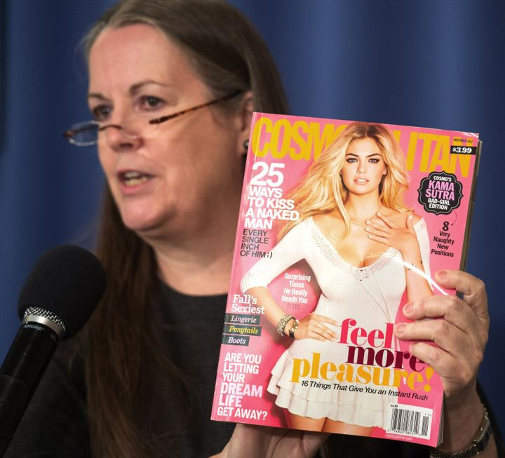 <span>Victoria Hearst, the granddaughter of publisher William Randolph Hearst, calls for Cosmopolitan to be sold to adults on