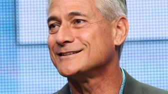 BEVERLY HILLS, CA - JULY 30:  Olympic diver Greg Louganis speaks onstage during the 'Back On Board: Greg Louganis' panel discussion at the HBO portion of the 2015 Summer TCA Tour at The Beverly Hilton Hotel on July 30, 2015 in Beverly Hills, California.  (Photo by Frederick M. Brown/Getty Images)