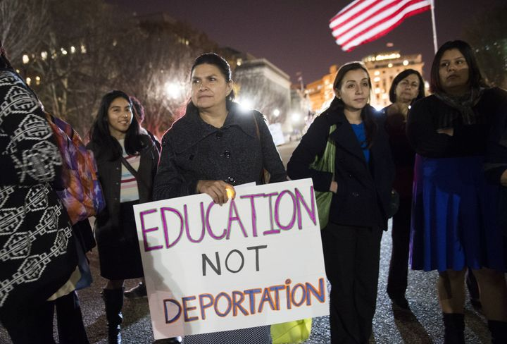 Immigration activists, seen here protesting deportations, have been critical of Sen. Bernie Sanders' recent comments on immig