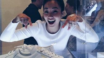 New York artist Sophia Chang hangs out alongside her collab with Puma at the Brooklyn Museum.