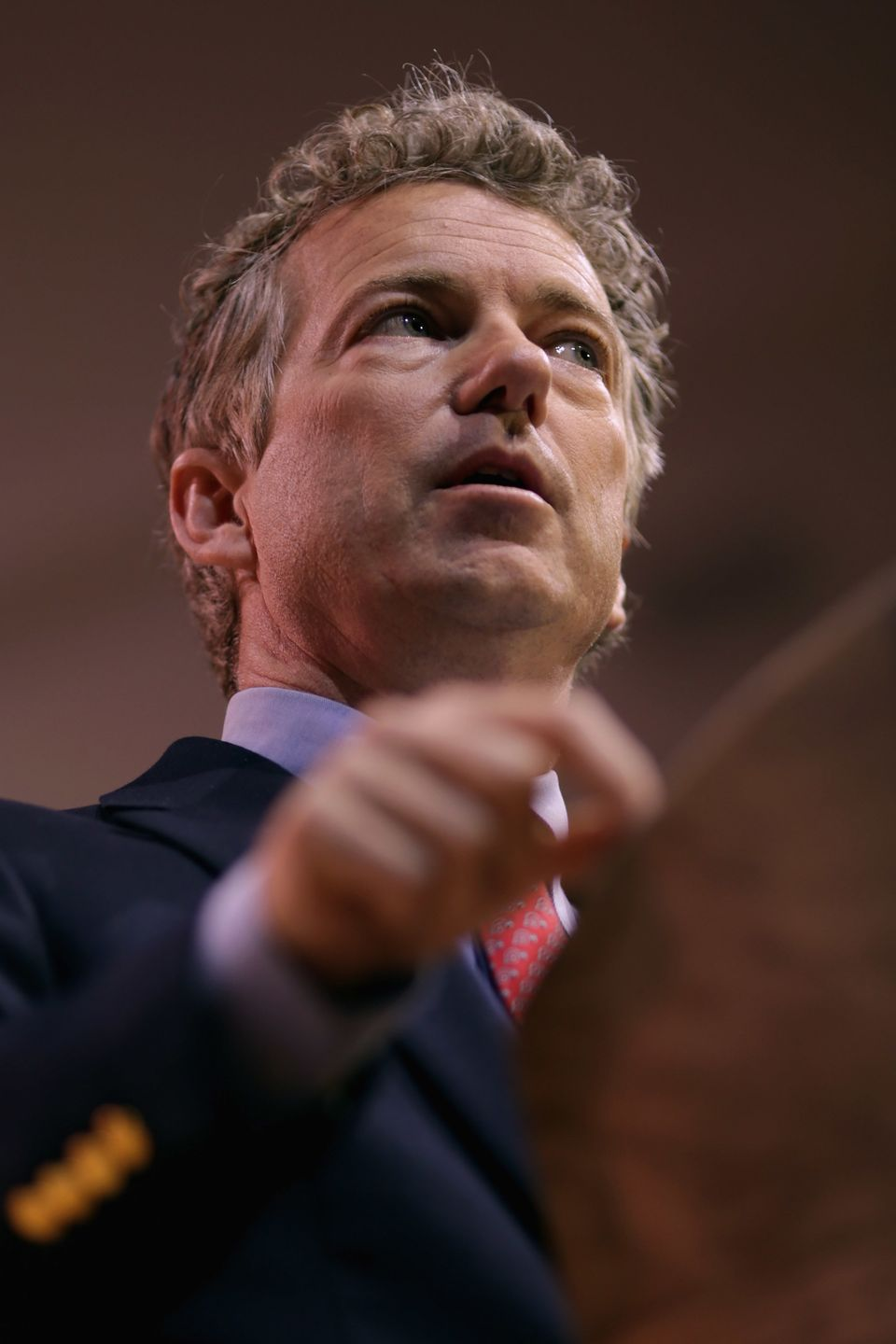 NATIONAL HARBOR, MD - MARCH 07:  Sen. Rand Paul (R-KY) addresses the Conservative Political Action Conference at the Gaylord