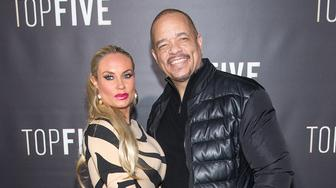 NEW YORK, NY - DECEMBER 03:  Television Personality Coco Austin and Actor Ice-T attend the 'Top Five' New York Premiere at Ziegfeld Theater on December 3, 2014 in New York City.  (Photo by Mike Pont/FilmMagic)
