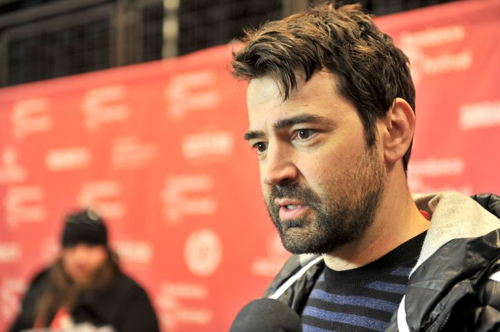 <span>Actor Ron Livingston speaks on the red carpet at the 'The End Of The Tour' Premiere during the 2015 Sundance Film Festi