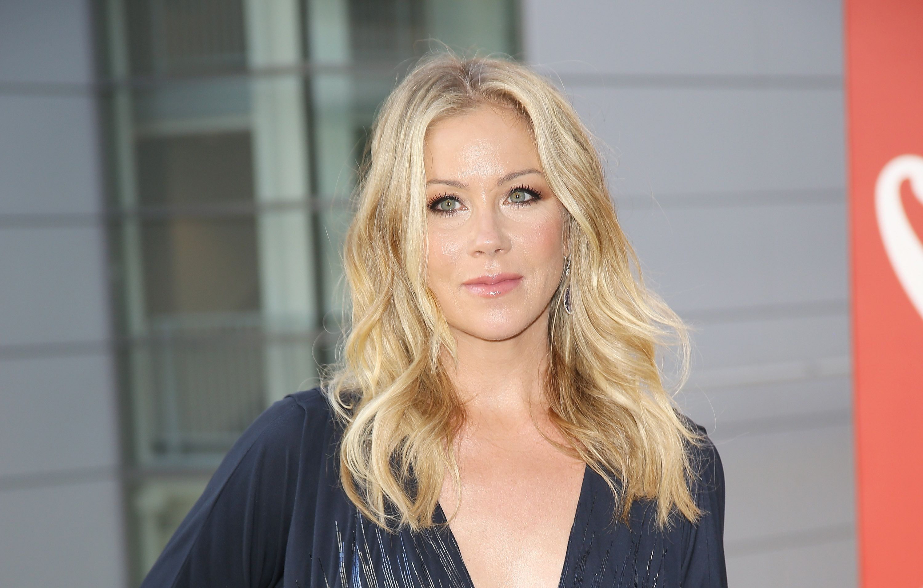 LOS ANGELES, CA - AUGUST 01:  Christina Applegate arrives at Dizzy Feet Foundation's 5th Annual Celebration Of Dance Gala held at Club Nokia on August 1, 2015 in Los Angeles, California.  (Photo by Michael Tran/FilmMagic)