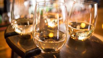 white wine flight @ WG Kitchen & Wine Bar in Hamilton, OH