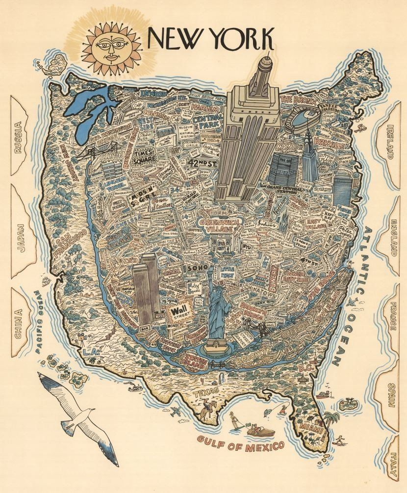 This Map Shows How New Yorkers View The Rest Of The United ...