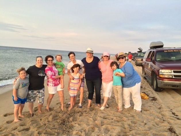 LGBTQ parentsand their children at Family Week in Provincetown, Massachusetts, in July