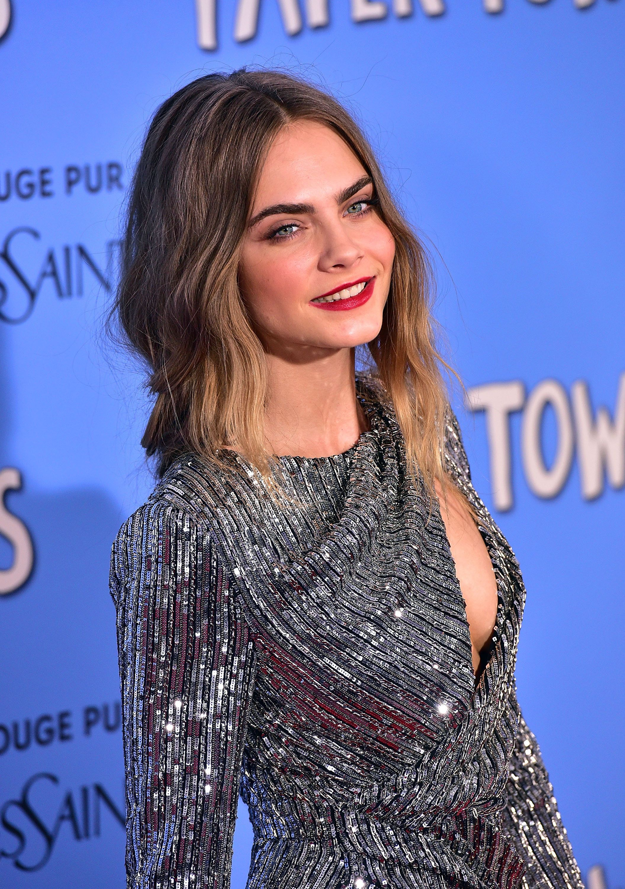 NEW YORK, NY - JULY 21:  Cara Delevingne attends the 'Paper Towns' New York Premiere at AMC Loews Lincoln Square on July 21, 2015 in New York City.  (Photo by James Devaney/WireImage)