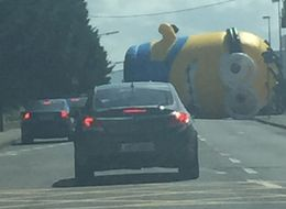 Inflatable Minion Causes 'Despicable' Traffic Jam In Dublin