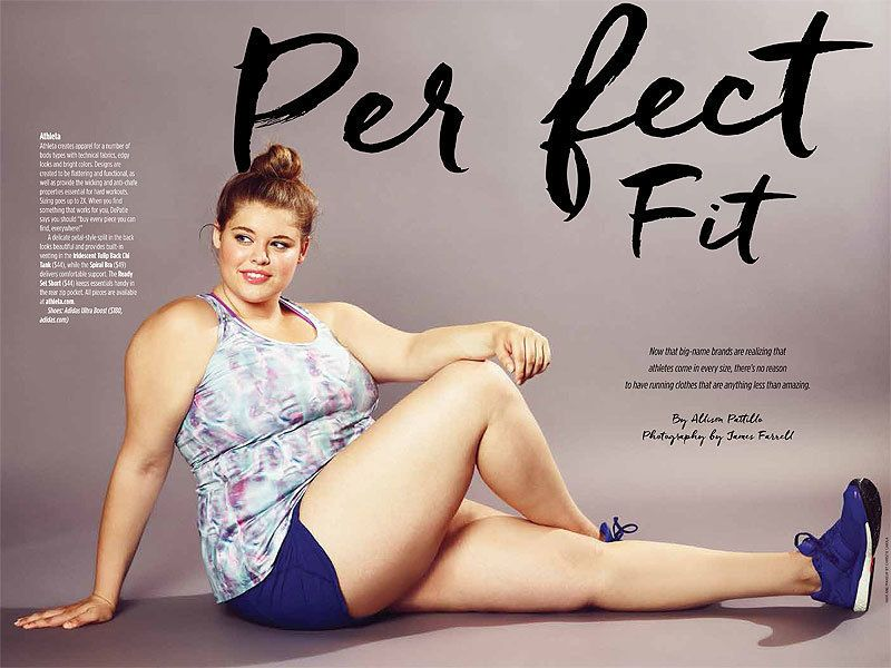 18-year-old revolutionized running magazines by appearing as the first plus size model on the cover