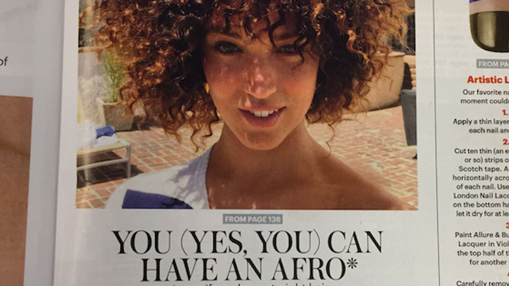 Afro white girl 'Don't wear