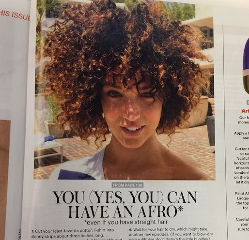 <span>Earlier this month, Allure magazine caught heat for publishing a tutorial for white girls on how to get an Afro.</span>