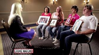 Relatives of missing and murdered women speak with the daughter of a serial killer.